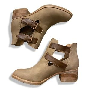 Euro Soft Brown Ankle Boots